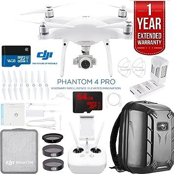 DJI Phantom 4 Pro Quadcopter Drone cámara con batería, carga HUB, Custom mochila y