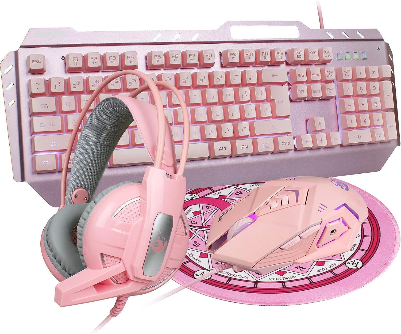dgg-pink-4-in-1-gaming-keyboard-combo