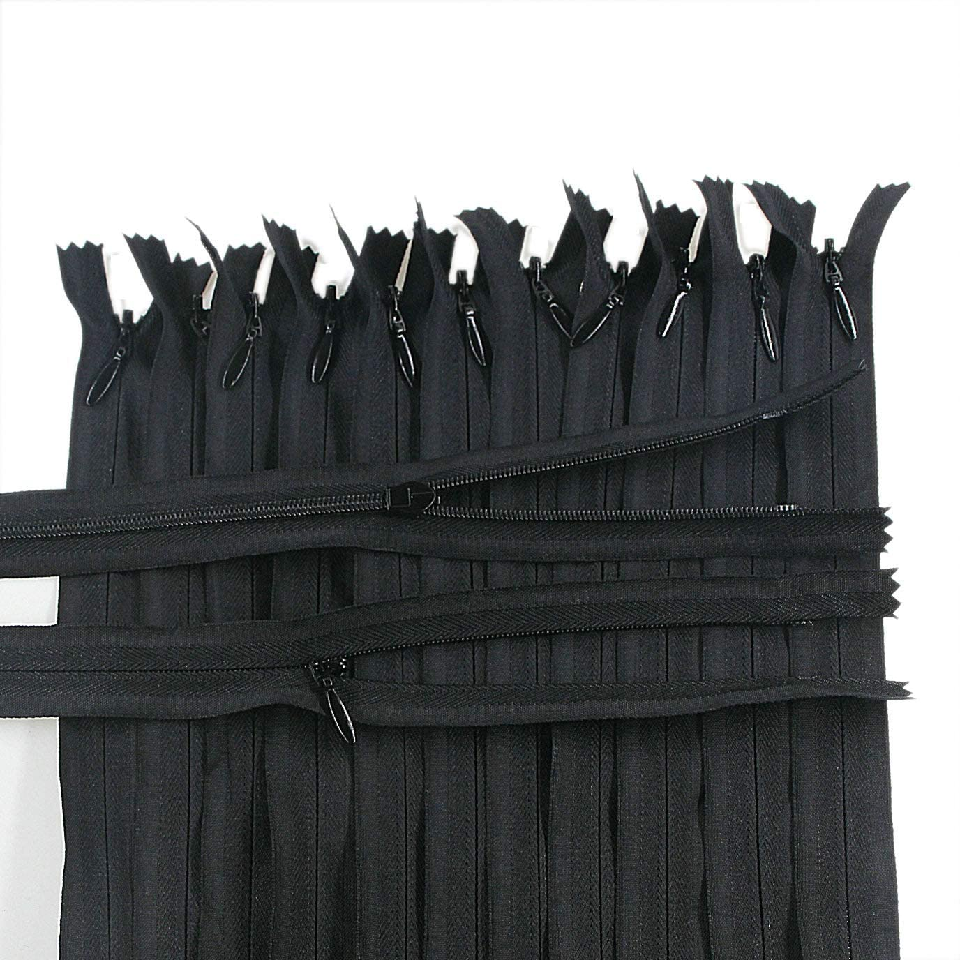 Leekayer 9 inch,Black 30PCS Invisible Nylon Coil Zipper,Clothing Zipper,DIY Sewing Tools for Craft Special