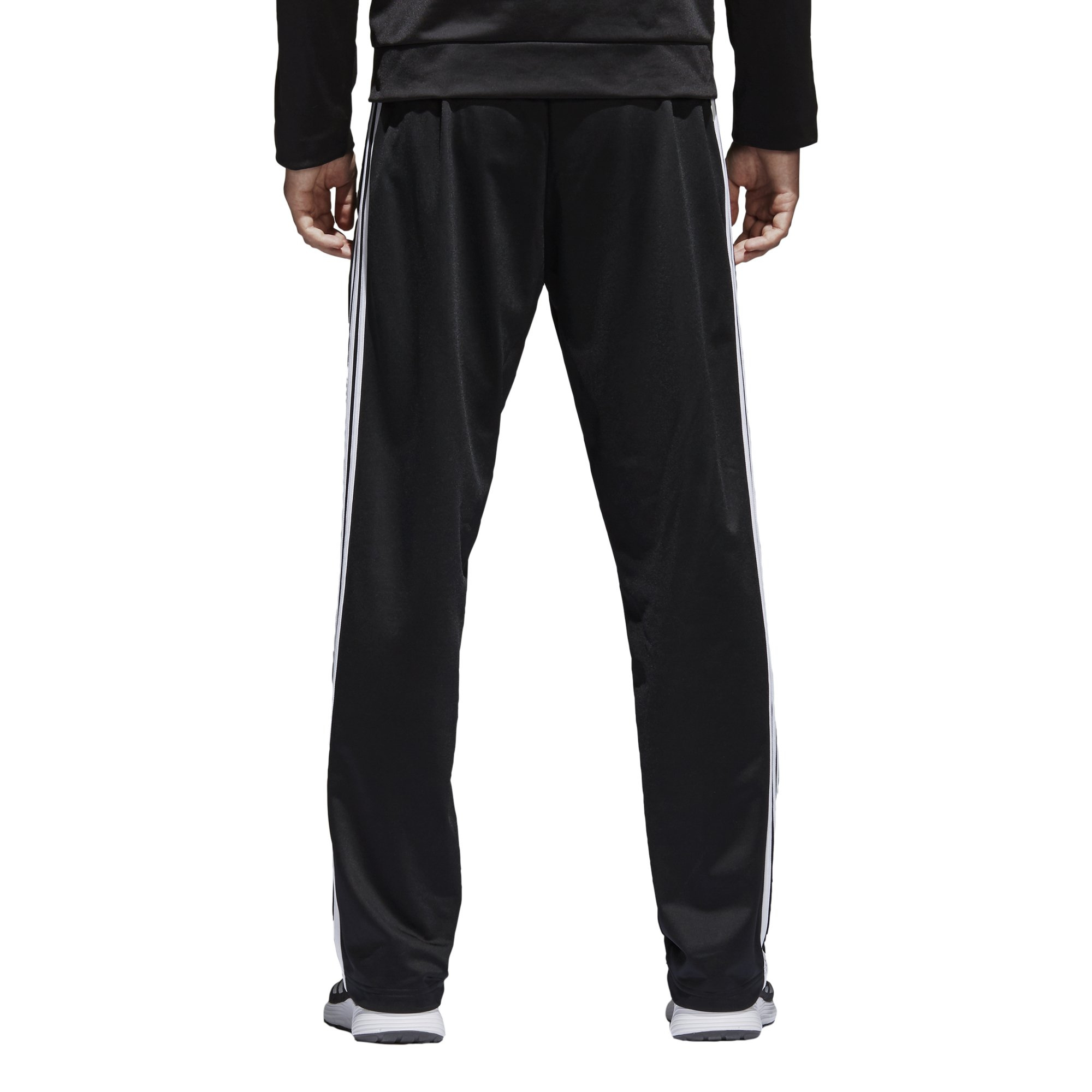 adidas Men's Athletics Essential Tricot 3-Stripe Pants, Black/White, Small by adidas (Image #5)