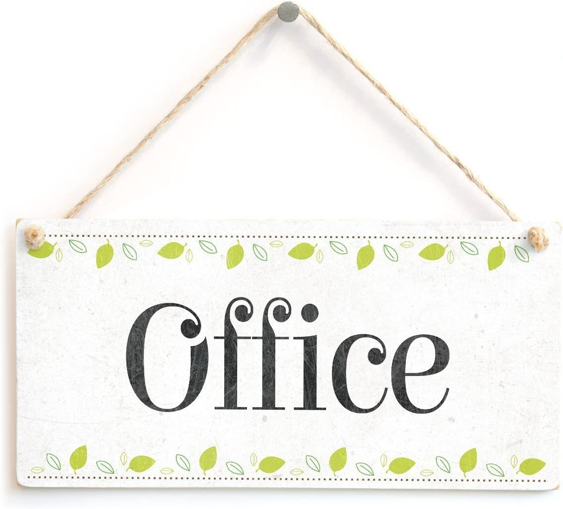 "Meijiafei Office - Beautiful Home Accessory Novelty Gift Sign Home Office Door Plaque 10""x5"""