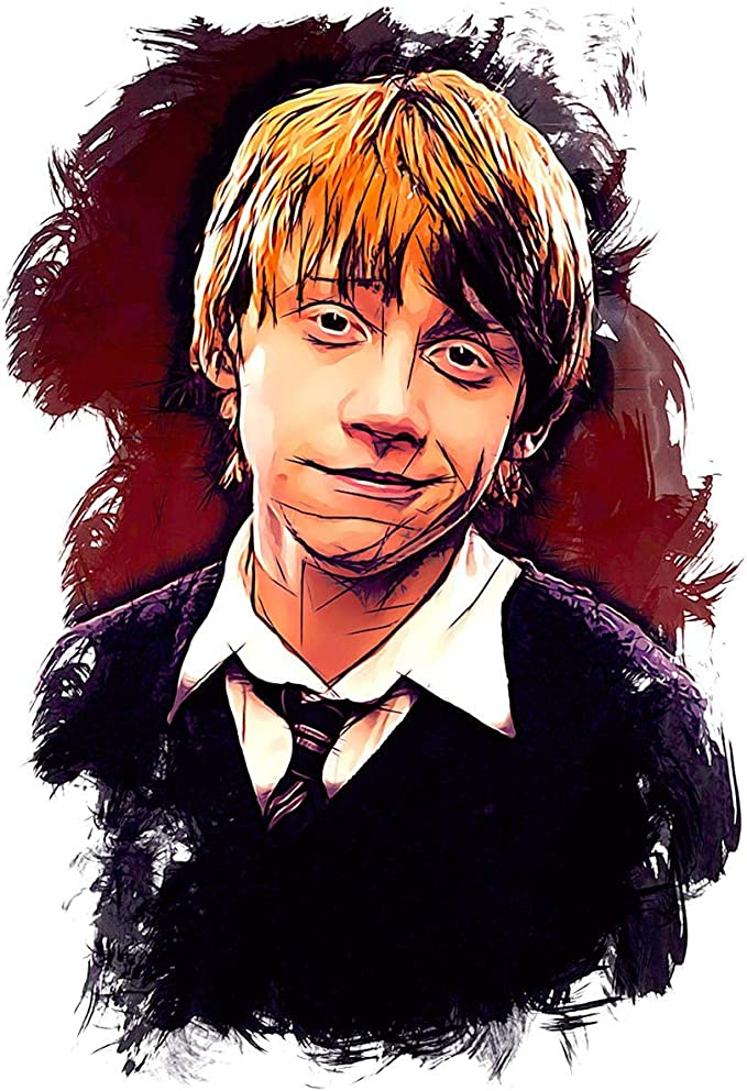 DibuNaif Camiseta Niño - Unisex Ron Weasley, Harry Potter ...