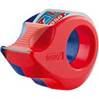 Tesa Mini Hand-Afroller, Donkerblauw/Rood, 10 m x 19 mm