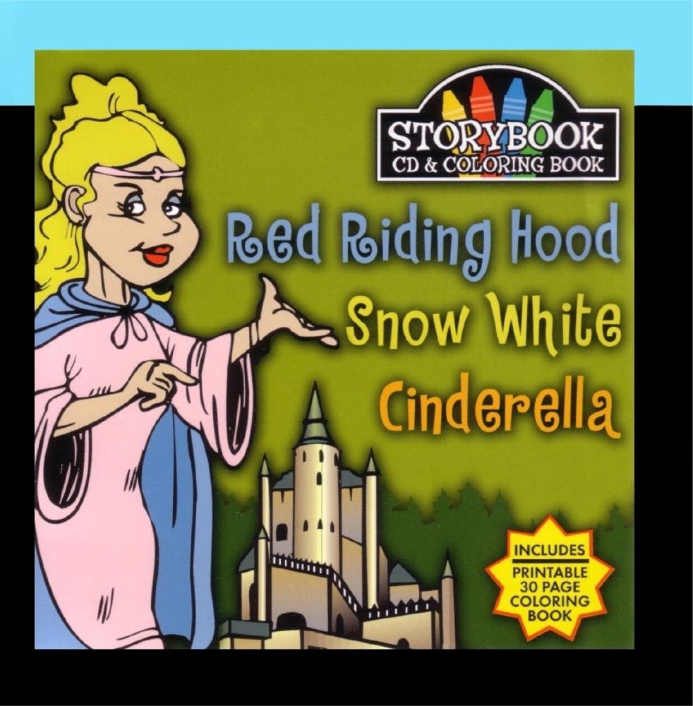 Various Artists Story Book Cd Coloring Book Red Riding Hood Snow White Cinderella Amazon Com Music