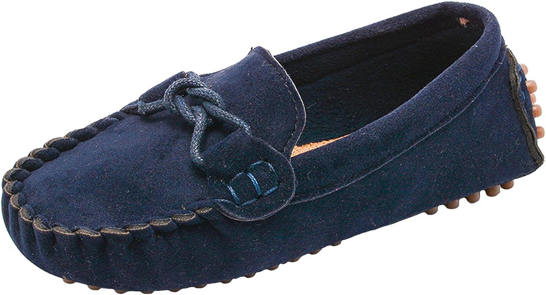 UNI Angel Toddler Boys Girls Summer Slip-On Breathable Dress Shoes PU Leather Loafer Flats