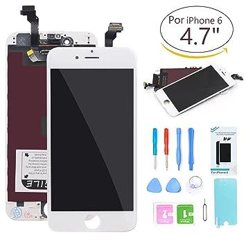 1d7eadd7bea Ibaye Compatible Pantalla for iPhone 6 LCD de Repuesto Blanco diseño para  Pantalla táctil de 4,7 Pulgadas Conjunto de Marco digitalizador: Amazon.es:  ...