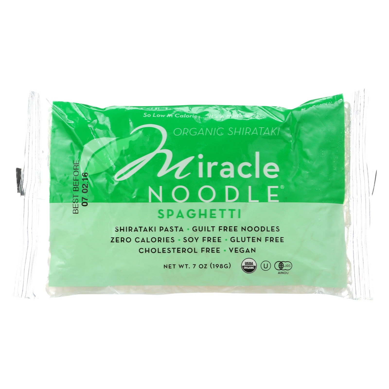 Miracle Noodle Shirataki Pasta - Organic Spaghetti - Case of 6 - 7 oz. by Miracle Noodle