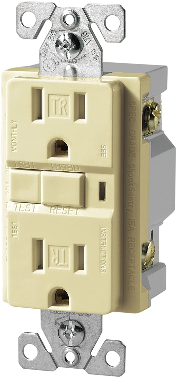 The Eaton Trvgf15bk Tamper Resistant Gfci Decorator Duplex Ground Fault Receptacle Wiring Black Standard Outlets Amazon Canada