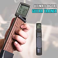 Ultimate Digital Handy Guitar Trainer, Portable Guitar Beginner Practice Tool with Rotatable Chords Chart Screen Display