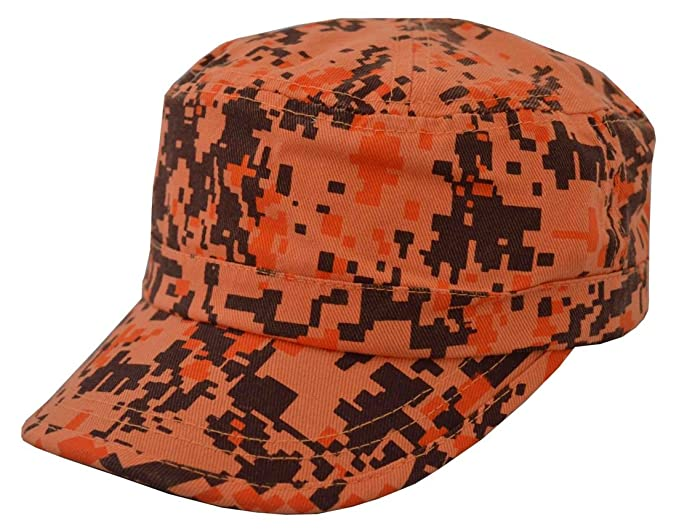 d781906a988 NIS Men s Castro Style Washed Cotton Twill Army Cap Orange Camo at ...
