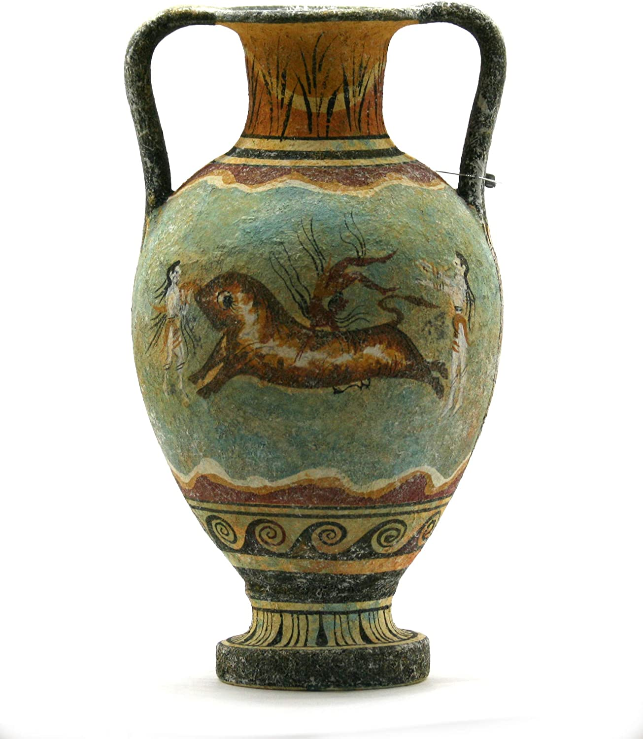 Minoan Vase Pottery Painting Bull Leaping Ancient Greek Crete Ceramic Knossos