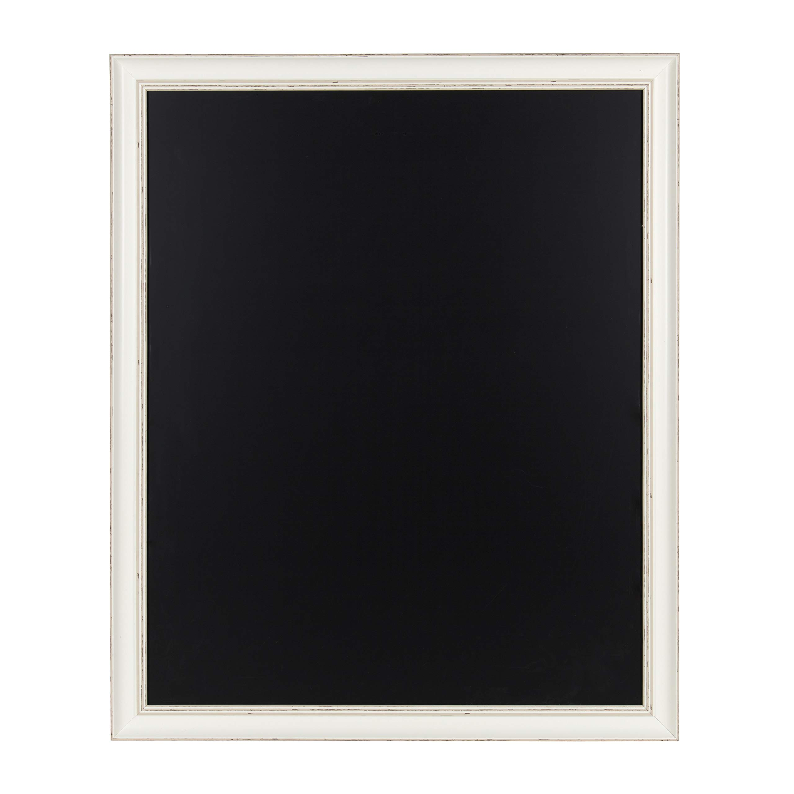 Kate and Laurel Macon Framed Magnetic Chalkboard, 27x33, Soft White by Kate and Laurel
