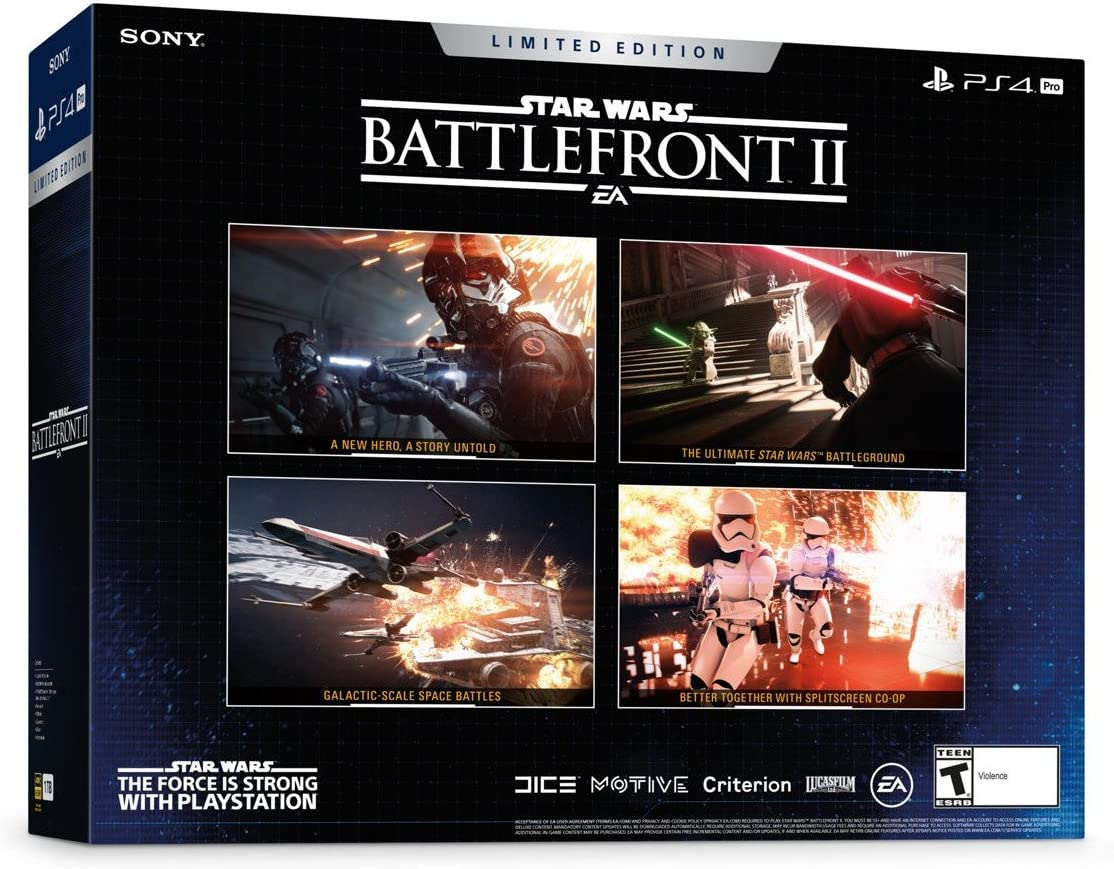 Sony PS4 Pro Limited Edition STAR WARS Battlefront II Bundle Negro ...