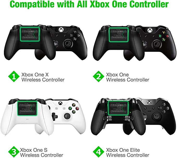 BEBONCOOL Paquete de 3 baterías recargables para mando Xbox One de ...
