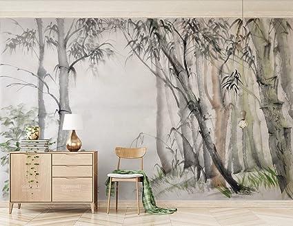 Carta Da Parati Ikea Prezzi.Carta Da Parati Muro 3d Elegante Cinese Nordico Ikea Foresta Di