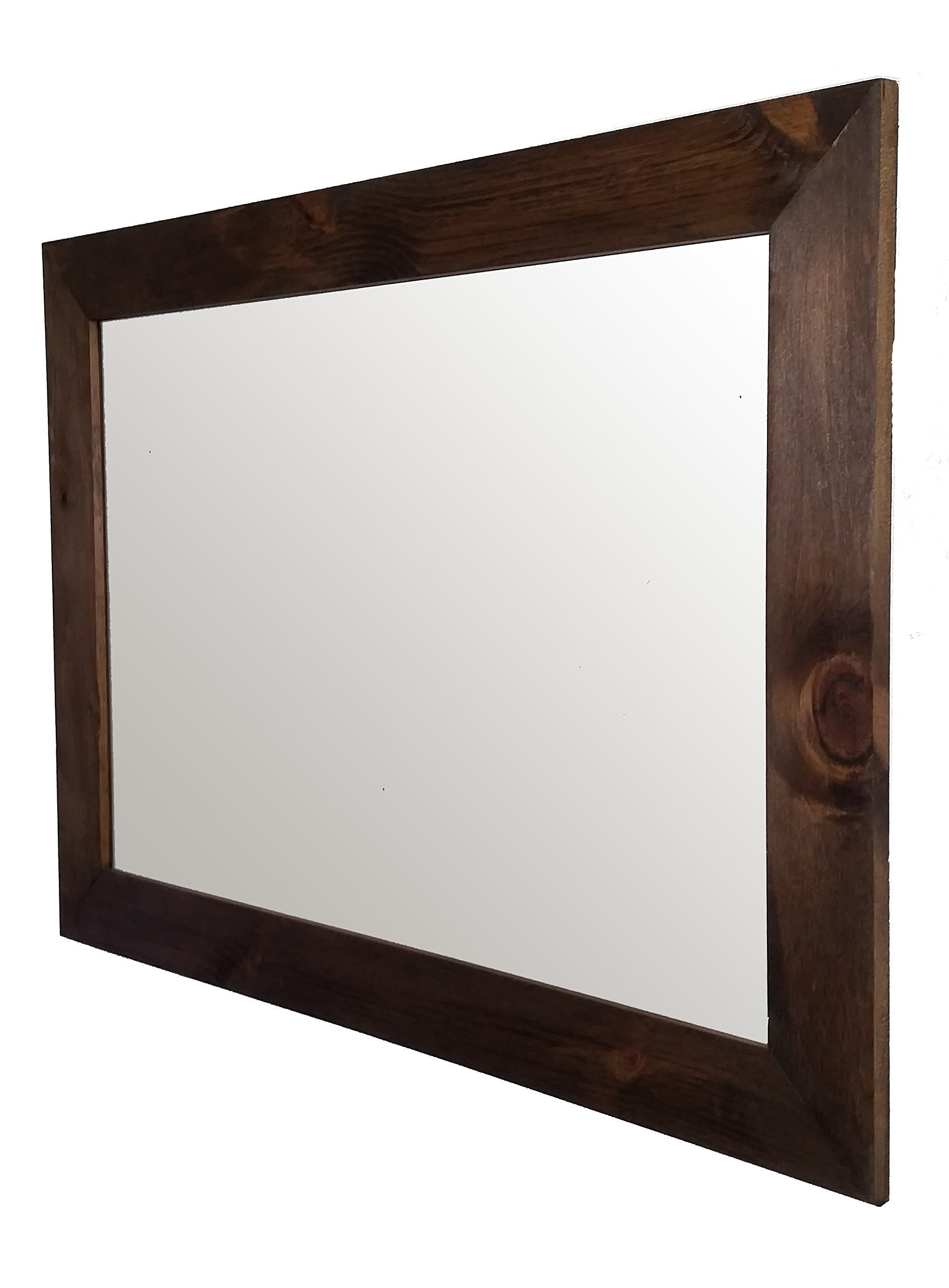 Shiplap Mirror 42 x 30 Horizontal Provincial Stain Reclaimed Wood Mirror - Large Wall Mirror - Rustic Modern Home - Home Decor - Mirror - Housewares - Woodwork - Frame by Renewed Decor