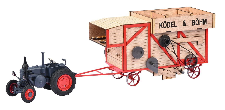 Schuco 450898900 - Modelltraktor Set Lanz Bulldog mit Dreschmaschine 1:32