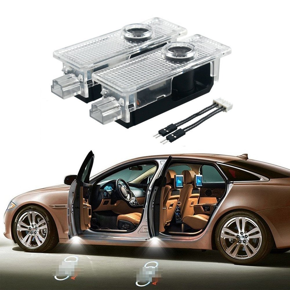 Airydar 2 Pieces Easy Installation Car Door LED Logo Projector Ghost Shadow Lights with Installation Instruction Audi01