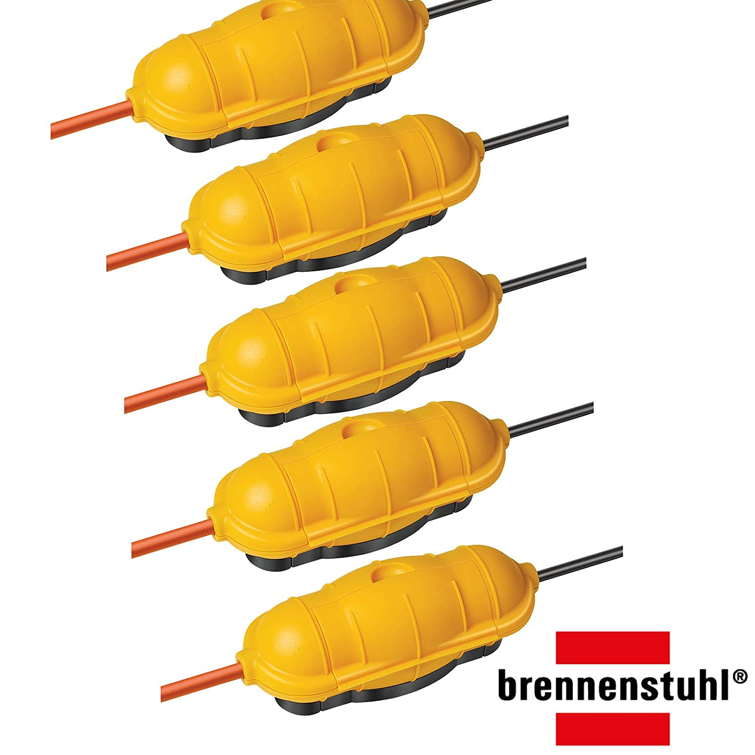 3er Pack Brennenstuhl Safe-Box Schutzkapsel fü r Kabel BIG IP44 outdoor gelb, 1160440 (3, Safebox BIG)