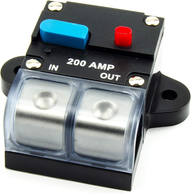 Automatische Sicherung 80A 200A Automatik Schalter Auto LKW Boot 12//24V