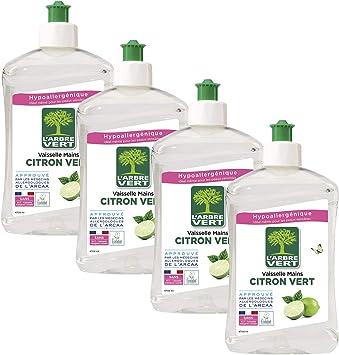 LArbre Vert Líquido lavavajillas a mano, limón verde, 500 ml ...
