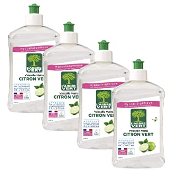 LArbre Vert Líquido lavavajillas a mano, limón verde, 500 ...