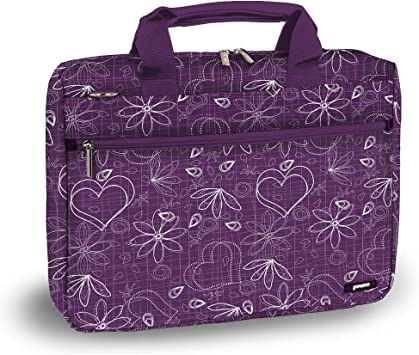 J World RESEARCH 15.4 Laptop Briefcase in Paisley