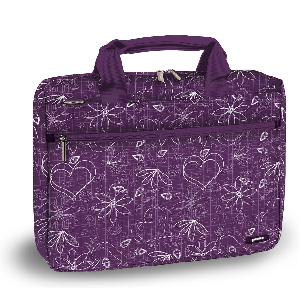 J World RESEARCH 15.4'' Laptop Briefcase in Love Purple by J World New York (Image #1)