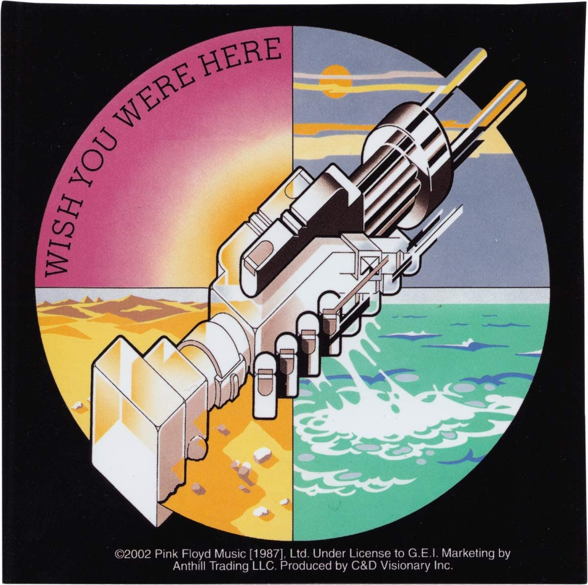 Square Deal Recordings & Supplies - Pink Floyd - Wish You were Here - Die Cut Sticker