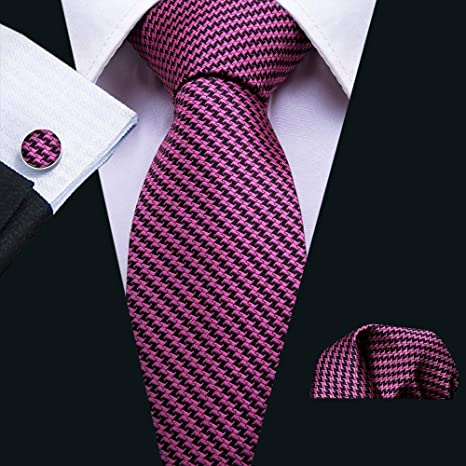 XKZYY Corbatas para Hombre Seda Jacquard Woven Rose Corbatas de ...