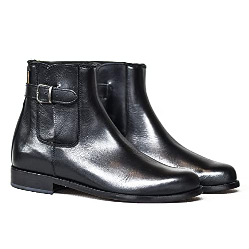 Botosvalverde.es 515H Botas y Botines para Hombre y Mujer Negra con elástico y Hebilla Fabricada en Valverde del Camino: Amazon.es: Zapatos y complementos