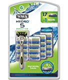 Schick Hydro 5 Sensitive Razor with 17 Cartridges and 1 handle