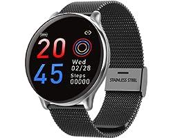Relógio Inteligente SmartWatch com Monitor Cardíaco, Monitor de Sono e Pressão Sanguínea para iOS e Android