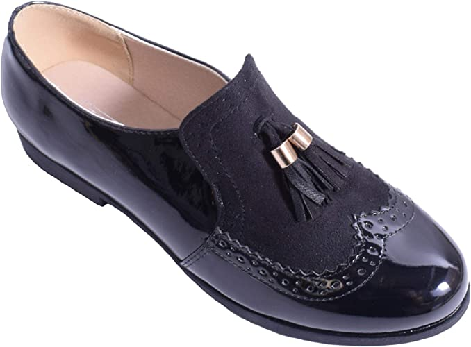 Womens Ladies Loafer Tassle Smart Flat