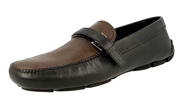 Men's 2DD110 C5S F0B2A Saffiano Leather Loafers