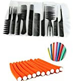 Generic 10Pcs Pro Salon Hair Cut Styling Hairdressing Barbers Combs Brush Set Black