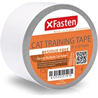 XFasten Anti-Scratch Cat Training Tape, 3-Inches x 30-Yards - Door, Couch, Furniture Leather Scratch Guard Protector Tape Cats Pets