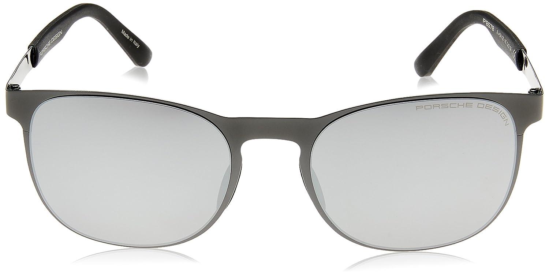 Porsche - Occhiali da sole - Full Rim - Uomo matte black A mercury silver mirrored 54 uwqvdsJ