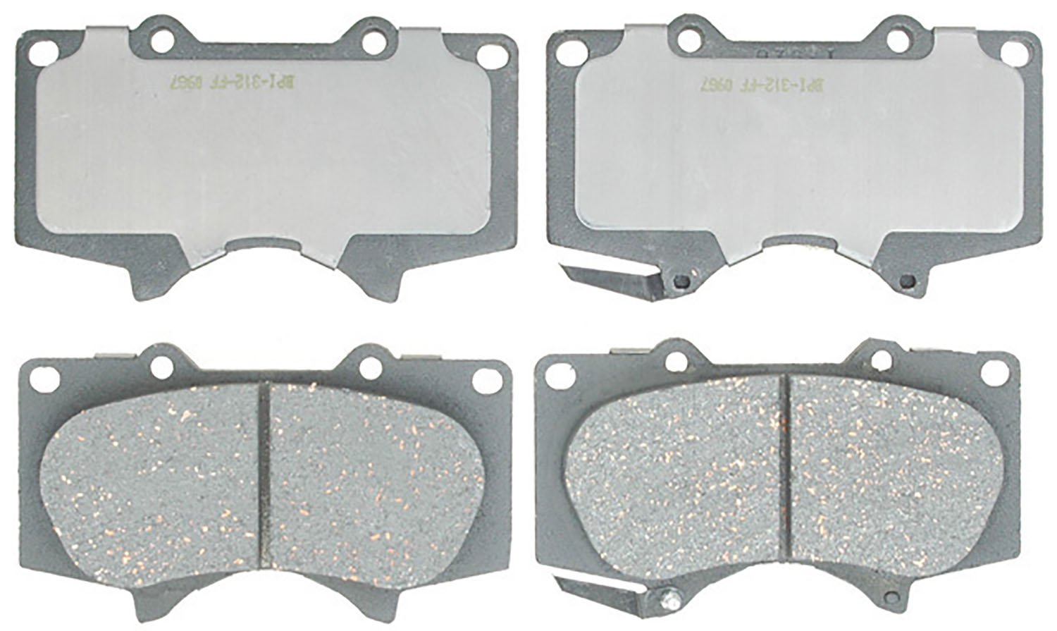 ACDelco 14D976CH Advantage Ceramic Front Disc Brake Pad Set by ACDelco
