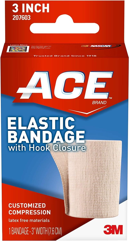 Amazon Com Ace 3 Inch Elastic Bandage With Hook Closure Beige