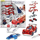 Modarri Delux T1 Track Car Red | Stem Educational Toy Cars | Make a Model Car - Design Your Own Working Race Cars | Fun…