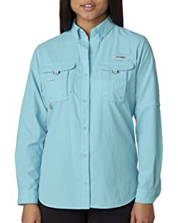 a2a8f975d0 Columbia Women s Bahama Long Sleeve Shirt - Clear Blue - 2XL