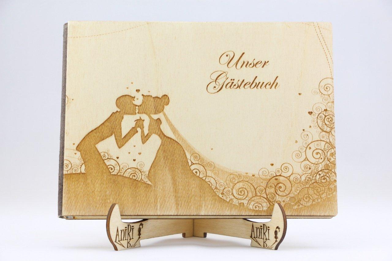 Individualisiert Gästebuch Hochzeit Holzgästebuch Fotoalbum Eingravierten TOP!