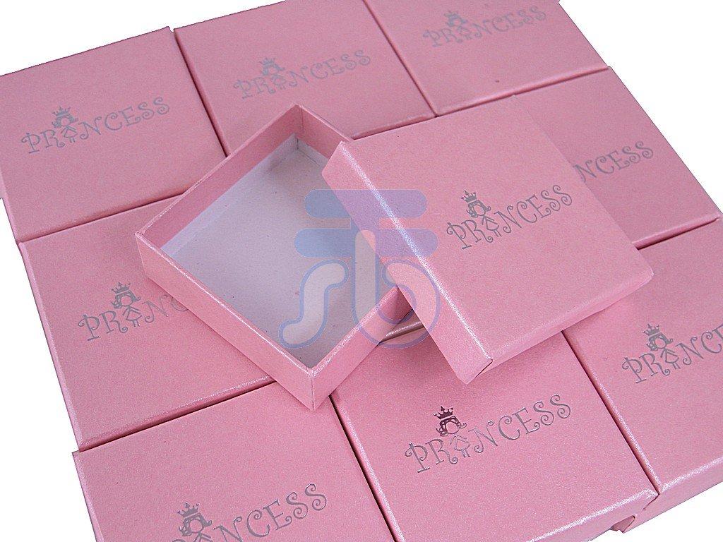 Amazon.com: 6*6*2.5cm Princess Pink Jewelry Gift Box with Drawstring ...