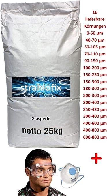 25 kg Strahlmittel Glasperlen Strahlglasperlen 90-150 /µm