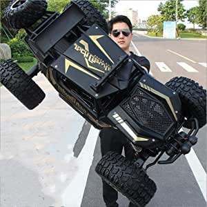 1:8 50cm Very Large Alloy RC Car 4WD Fast Speed Bigfoot Drifting Cars 2.4G Wireless Remote Control Buggy Climbing Truck Off-road Vehicle Model Gift For Kids Adults Hobby Toys Gift Black