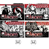 Gloom Card Game Bundle of Gloom, Unhappy Homes, Unwelcome Guests, and Unfortunate Expeditions Second Edition Plus 2 Bonus Sku