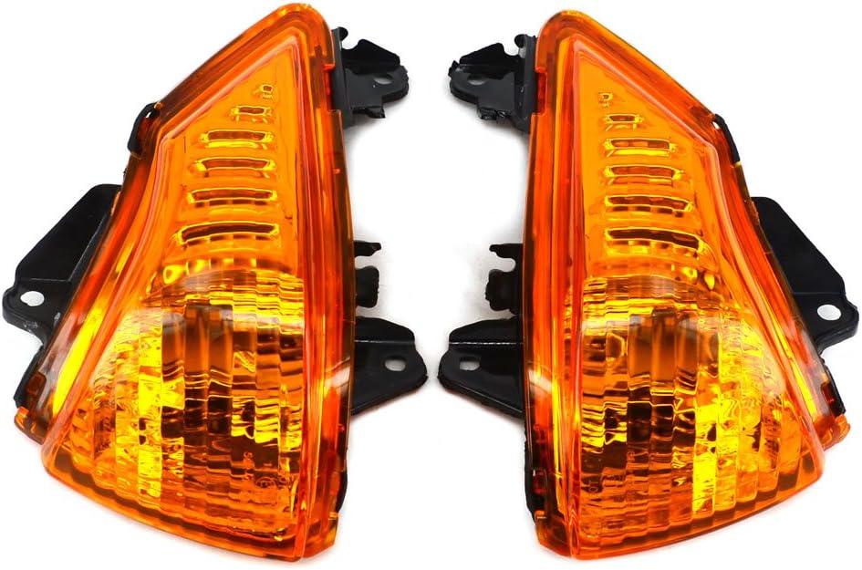 Fast Pro Indicatore di direzione lampeggiante luce lampada frontale di guardia per Kawasaki ER6/N ER6/F 2009/ /2011