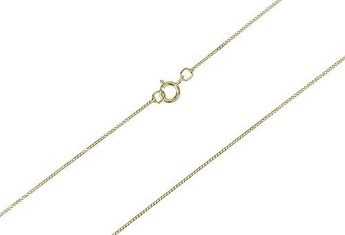 9ct Gold Fine Curb Chain 16 In Amazon Co Uk Jewellery