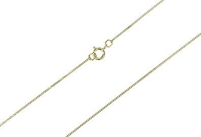 9ct Gold Fine Trace Chain in 16